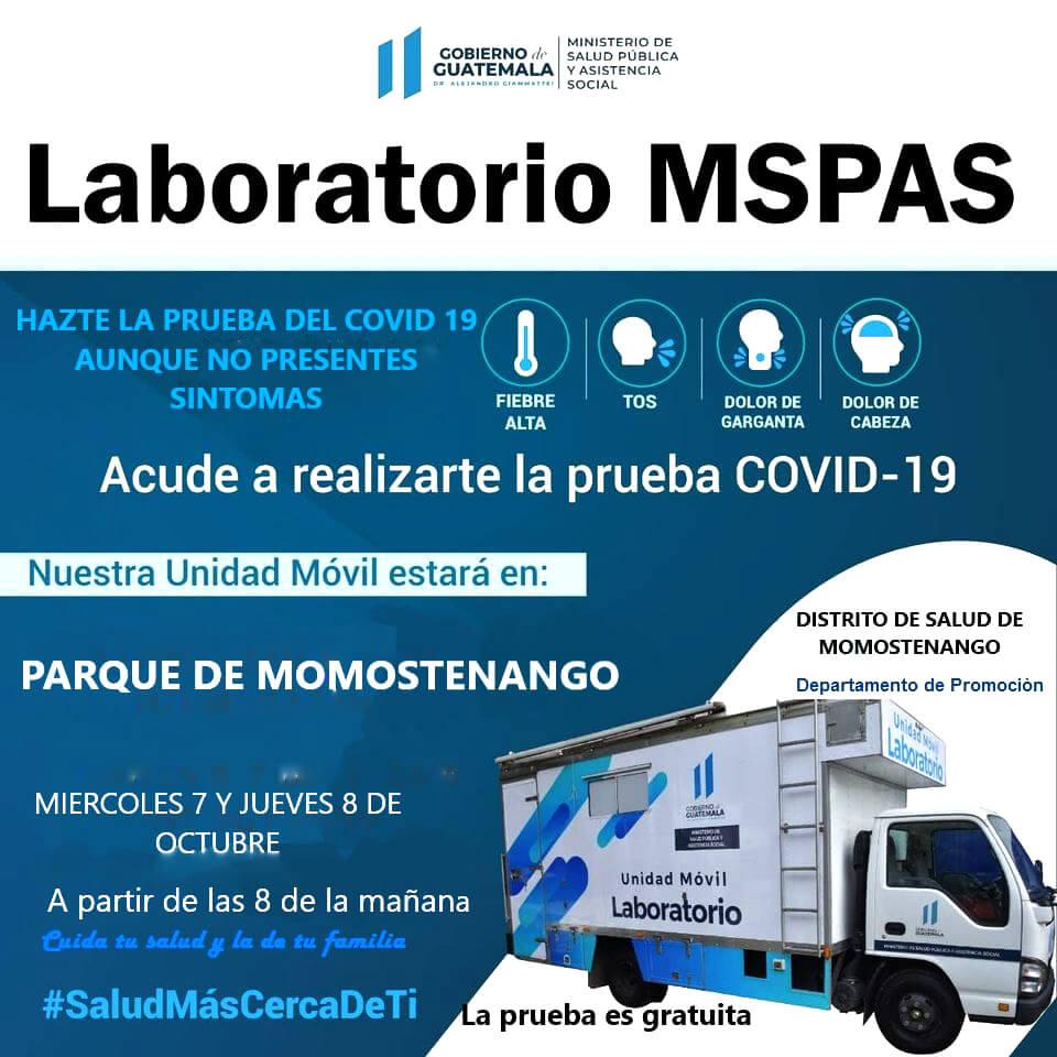 Prueba gratuita COVID-19 | Laboratorio MSPAS